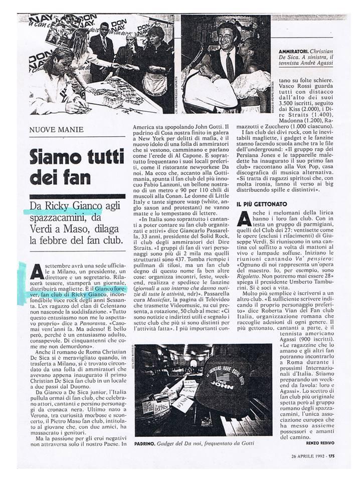 Articolo di Repubblica (26.04.1992)